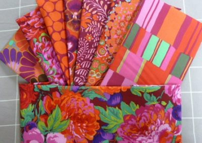 Orange Raspberry Fabric Selection